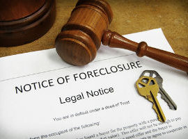 Paperwork for a New York foreclosure defense case.